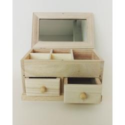 Cutie bijuterii cu 2 sertare 17x10.5x10 cm1