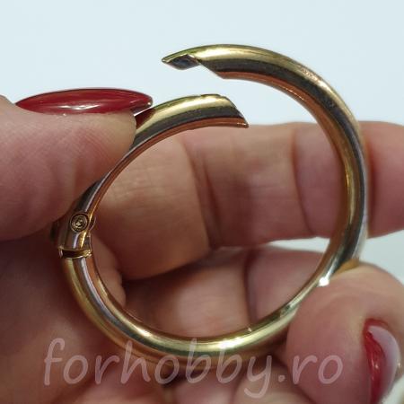 Inel rotund carabină - Auriu1