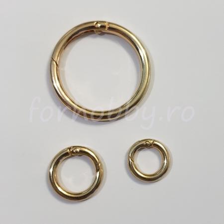 Inel rotund carabină - Auriu0