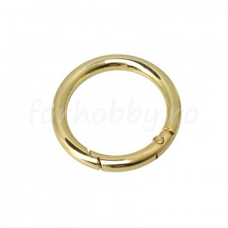 Inel rotund carabină - Auriu2