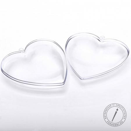 Inimă plastic 2 părți cu disc despărțitor - 10 cm1