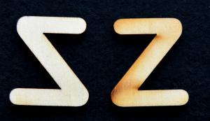 "Litera din lemn ""Z"" - 3.2 x 2.8 x 0.2 cm1"