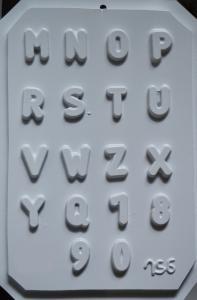 Matrita pentru turnat - Litere si cifre