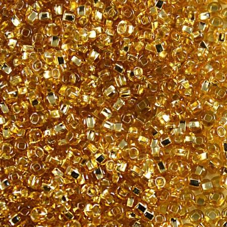 Mărgele Nisip Preciosa Ornela 11/0 19001/17020 - Galben Transparent Miez Argintiu1