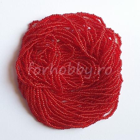 Mărgele Nisip Preciosa Ornela 11/0 19001/97090 - Roșu transparent închis cu miez argintiu0