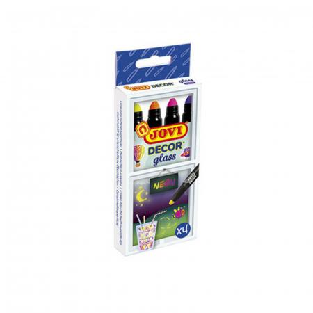 Marker decor sticla JOVI - 4 culori neon1