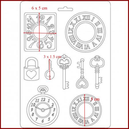 Matrita pentru turnat A5 - Ceas si cheie1