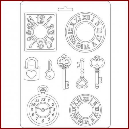 Matrita pentru turnat A5 - Ceas si cheie0