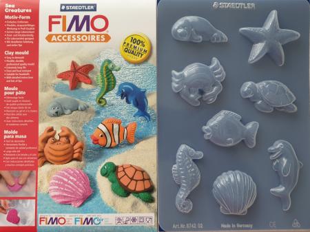 Matrita pentru turnat Fimo - Creaturi marine
