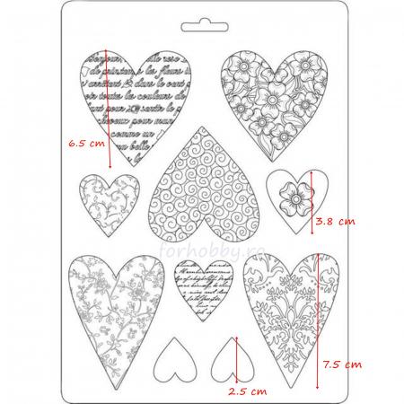 Matrita pentru turnat - Inimi1