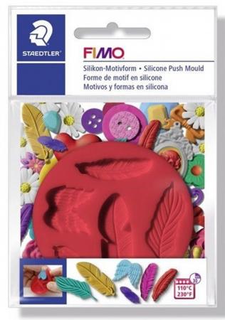 Mulaj din silicon FIMO - Pene1