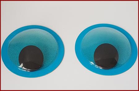 Ochi mobili mari - Albastru glitter1