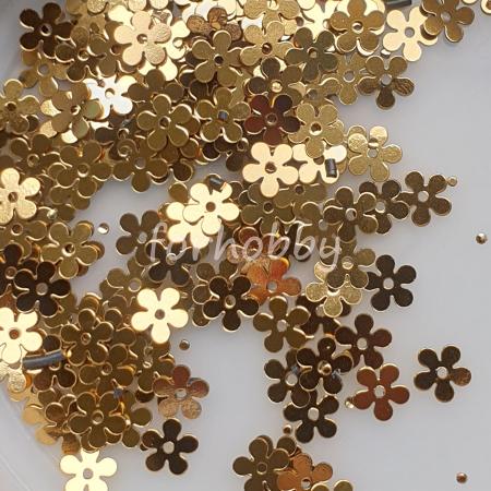 Paiete flori plate 7 mm - Auriu0
