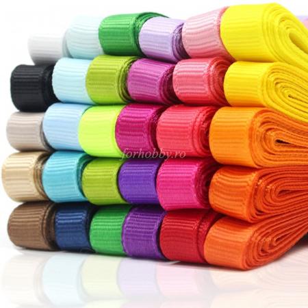 Panglică ripsată - 2.5 cm lățime - Diverse culori0