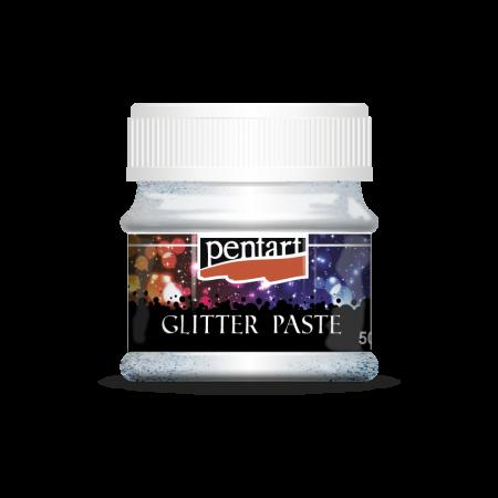 Pasta glitter cu granulatie fina 50 ml - Argint0