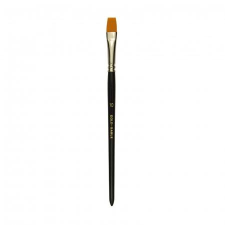Pensule Gold Sable seria 9902 - Drept / Păr sintetic4