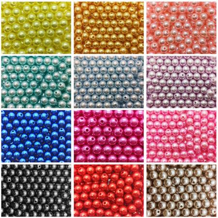 Perle plastic 8 mm - 20 gr0