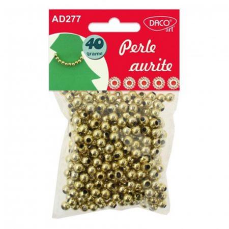 Perle plastic 6 mm - Perle aurite0