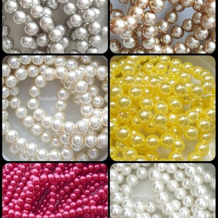 Perle plastic pe sirag 6 mm0