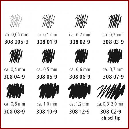 Pigment liner Staedtler 308-9 - negru2