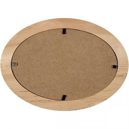 Ramă foto din lemn - Oval 12 x 19 cm1