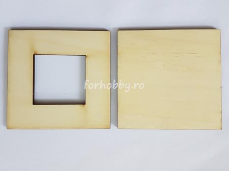 Ramă foto din placaj - Pătrat 5 x 5 cm1