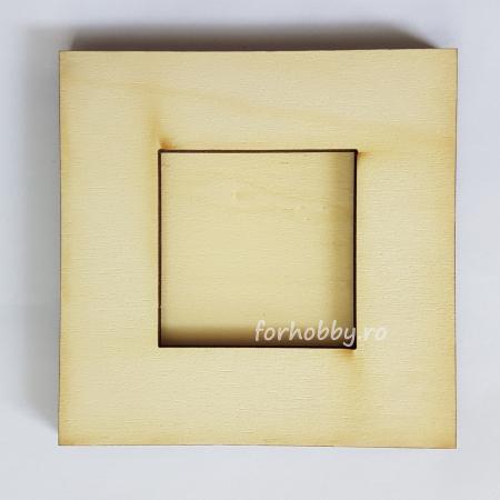 Ramă foto din placaj - Pătrat 5 x 5 cm0