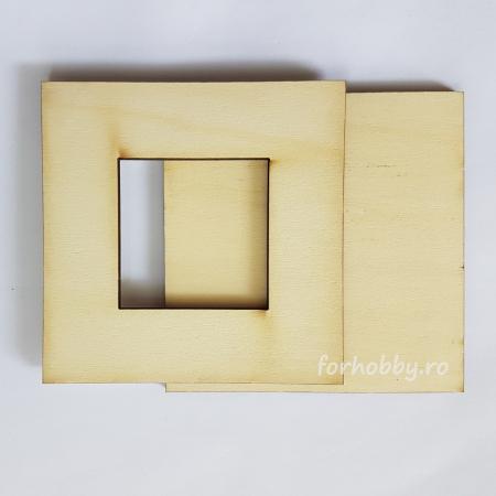 Ramă foto din placaj - Pătrat 5 x 5 cm2