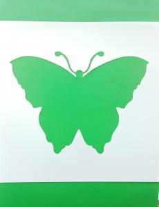 Sablon plastic flexibil - Model fluture 10 x 10 cm2
