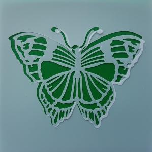 Sablon plastic flexibil - Model fluture 10 x 10 cm0