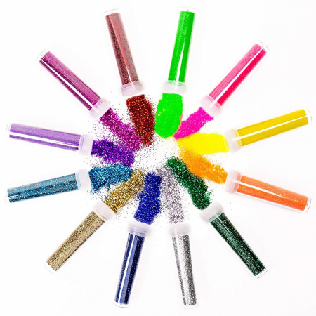 Sclipici 6 g - Culori de bază, neon, pastel0