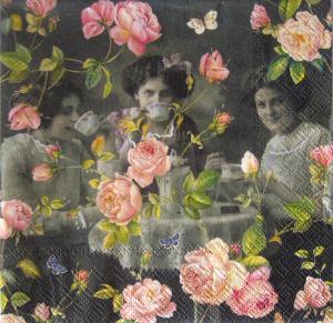 Servetel floral vintage0