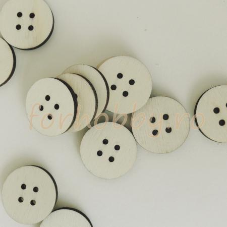 Nasturi lemn natur rotunde 3 cm - Set 6 bc0