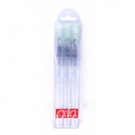 Set 3 pensule cu rezervor, varf plat, drept PN603D2