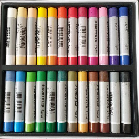 Set creta pastel uleios 24 culori Staedtler1