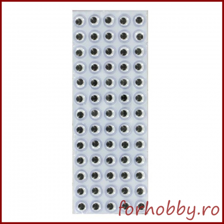 Set ochi mobili autoadezivi 6 mm0