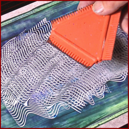 Spatula pieptene pentru texturare Stamperia2