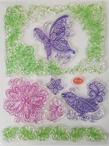 Stampila silicon - Fluture0