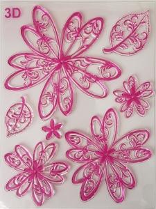 Stampila silicon - Flori fantezie0