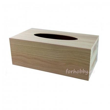 Suport din lemn pentru șevețele / batiste 25 x 13 x 9 cm0