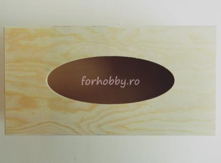 Suport din lemn pentru șevețele / batiste 25 x 13 x 9 cm2