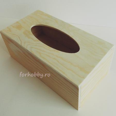 Suport din lemn pentru șevețele / batiste 25 x 13 x 9 cm1