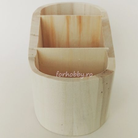 Suport din lemn pentru creioane 17 x 9.7 x 10.3 cm2