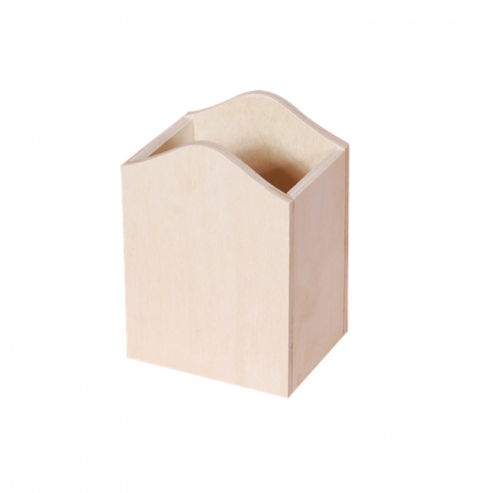 Suport din lemn pentru creioane 8 x 8 x 11.5 cm1