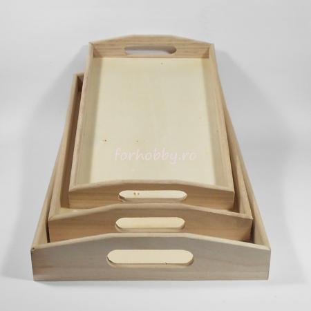 Tavă dreptunghiulară din lemn - Diverse mărimi1
