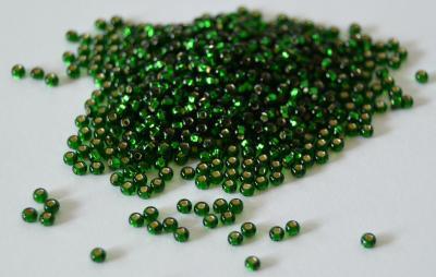 Margele nisip Preciosa Ornela 10/0 - Verde miez argintiu 570601
