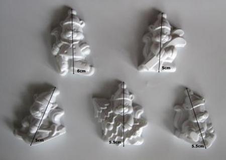 Matrita pentru turnat - Veverite Craciun1