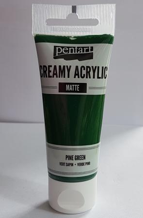 Vopsea acrilică cremoasă mată 60 ml - Verde brad2