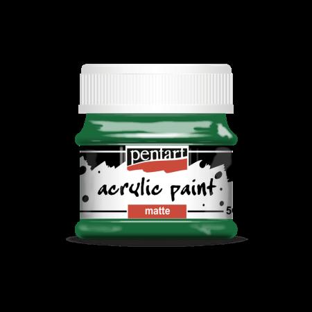 Vopsea acrilică mată 50 ml - Verde0
