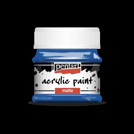 Vopsea acrilică mată 50 ml - Albastru0